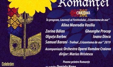 """Concertul extraordinar """"Comori ale Romanței"""" la Filarmonica din Craiova"""