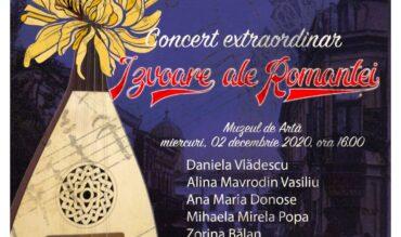 """Concert """"Izvoare ale Romanței"""" – Craiova, 02 decembrie 2020"""
