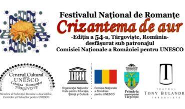 """Comunicat de presă – Festivalul """"Crizantema de Aur"""", ediţia a 54-a, 2021"""